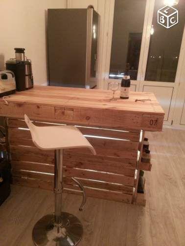 meuble de cuisine bar ilot centrale ameublement pas-de-calais