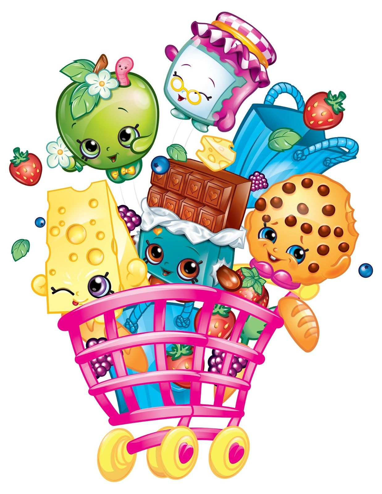 10 Mewarnai Gambar Shopkins Shopkins Party