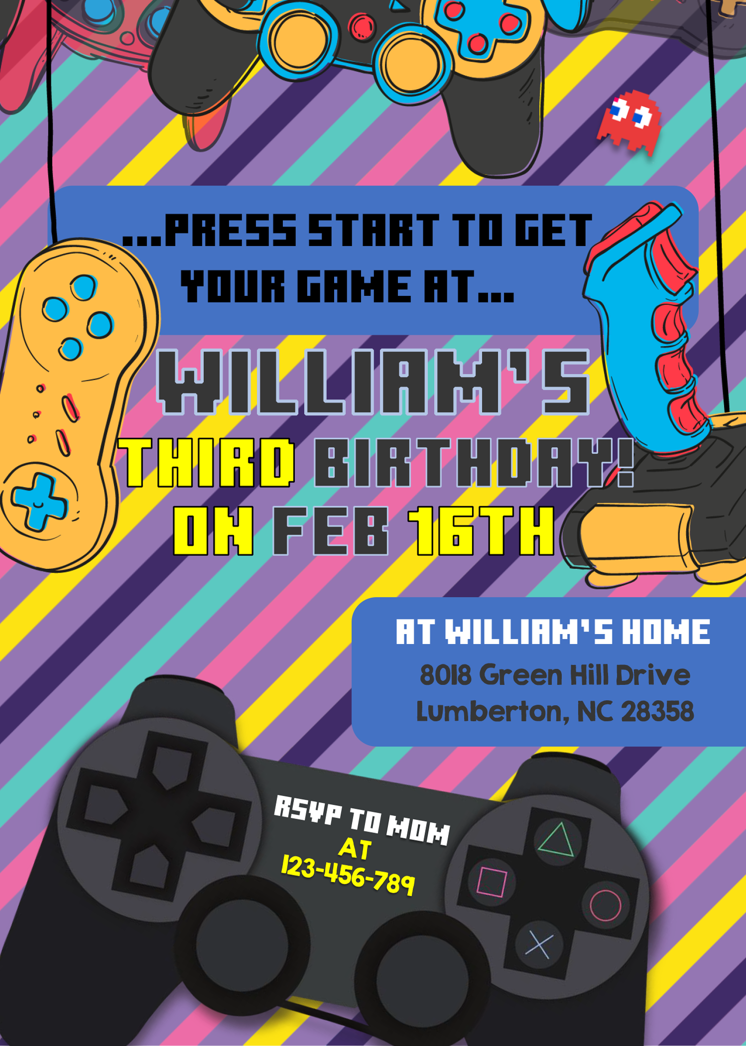 Video Game Invitation Templates Editable With Microsoft Word Free Printable Baby Shower Invitations Printable Baby Shower Invitations Invitation Template