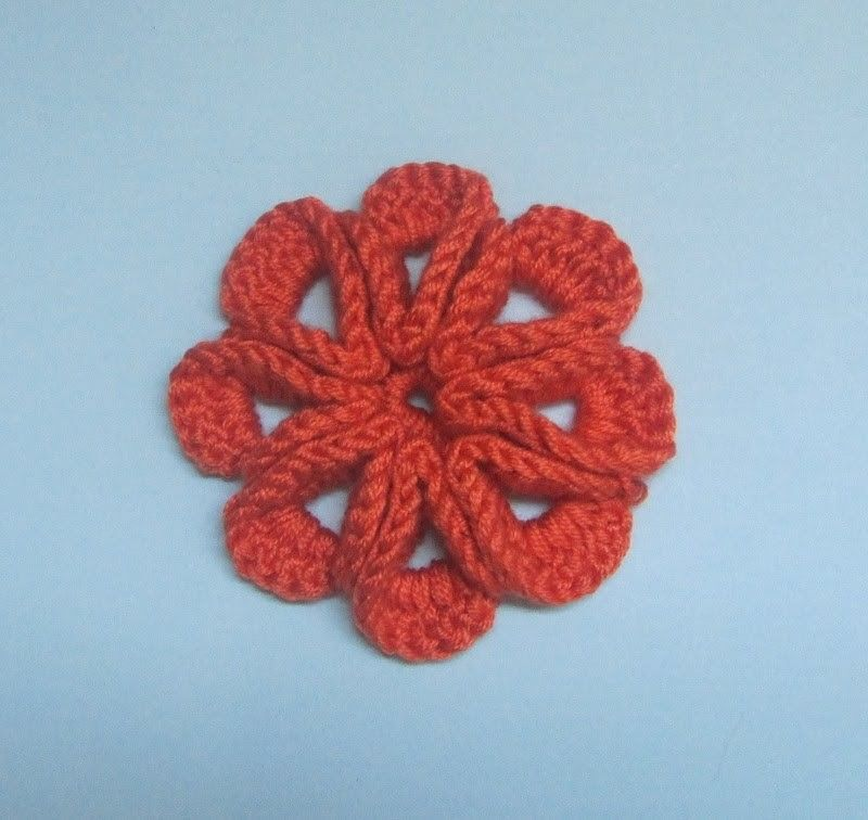 How to Crochet a Flower Pattern #3