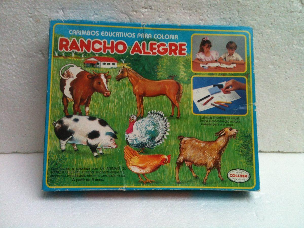 coluna carimbos rancho alegre brinquedo antigo carimbos
