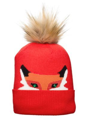 wooland critters intarsia hat - kate spade new york