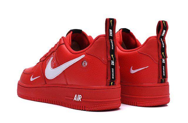 Nike Air Force 107 AF1 Red/White Men's