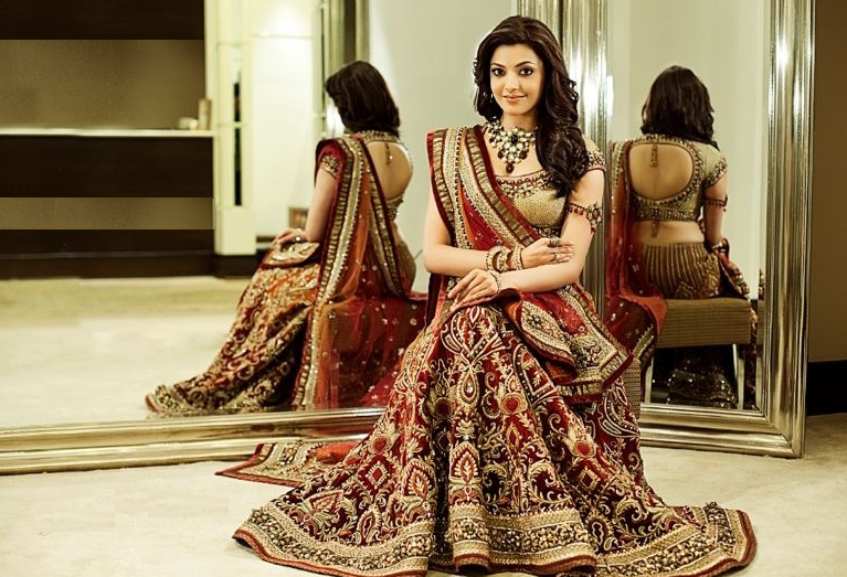 Download Kajal Aggarwal Hd Wallpapers And Images Indian Wedding Dress Traditional Indian Wedding Dress Indian Outfits