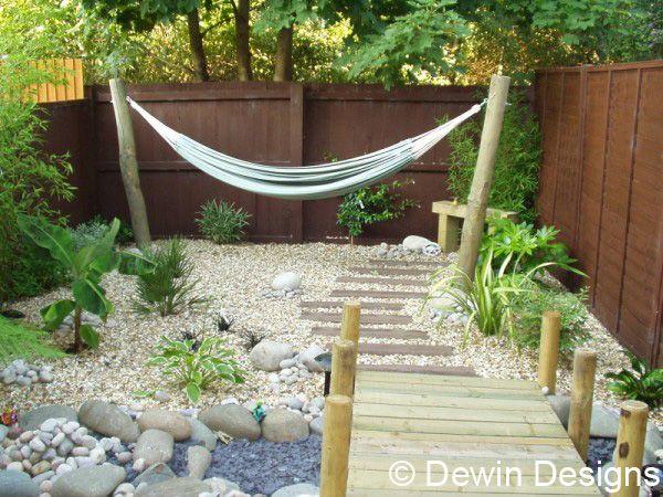 Tiny Tropical Uk Garden Dewin Designs Hammock Envy Garden
