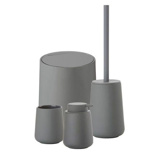 Zone Denmark Nova 5L Bathroom Bin Grey Image 2