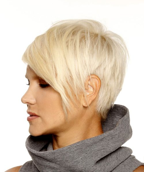 Pixie Hairstyles Unique Short Pixie Hairstyle  Straight Formal  Light Blonde