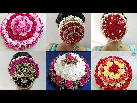 Latest Hair Bun//stylish Ambada Design//Hair Juda - YouTube | Wedding hair flowers, Bridal bun ...