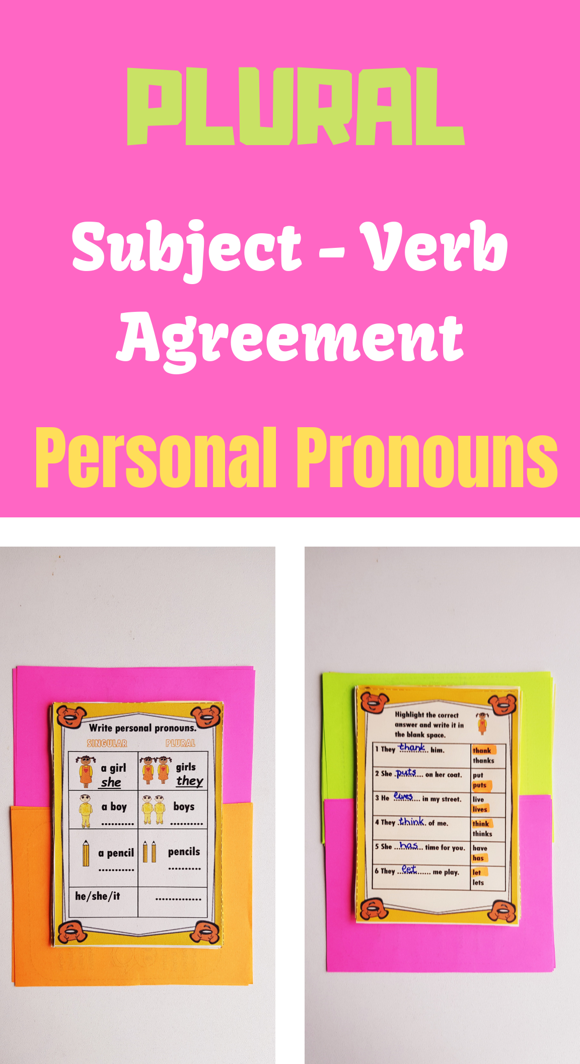 Subject Verb Agreement Worksheets Subject And Verb Subject Verb Agreement Verb [ 2112 x 1152 Pixel ]