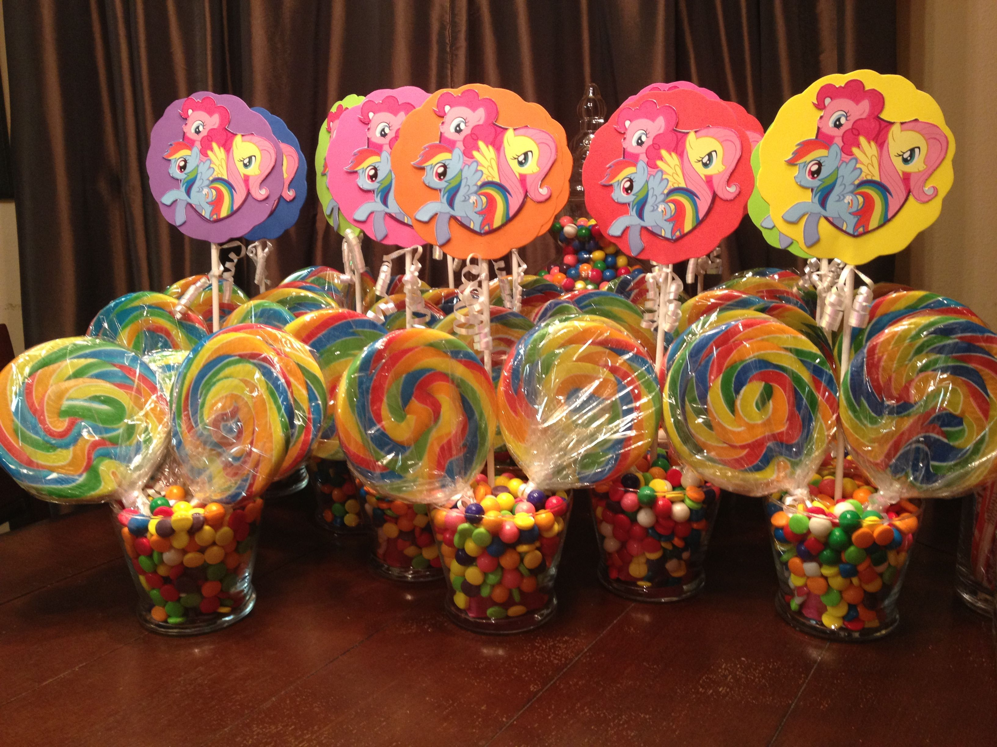 My Little Pony Center Pieces Rainbow Dash Party Goodies