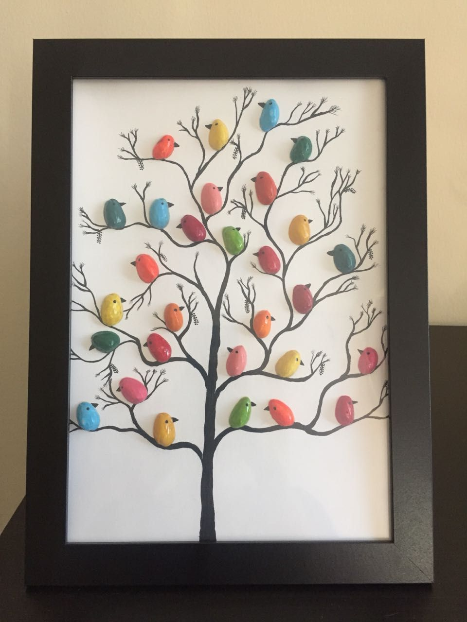 Little Birds Tree Pistachio Shell Art With Images Shell
