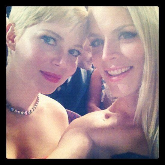 Busy Philipps shares fun photos of her daughter, Birdie, her latest craft project, and candid shots like this one with her best friend Michelle Williams. #instagram #celebrity #candid #cute