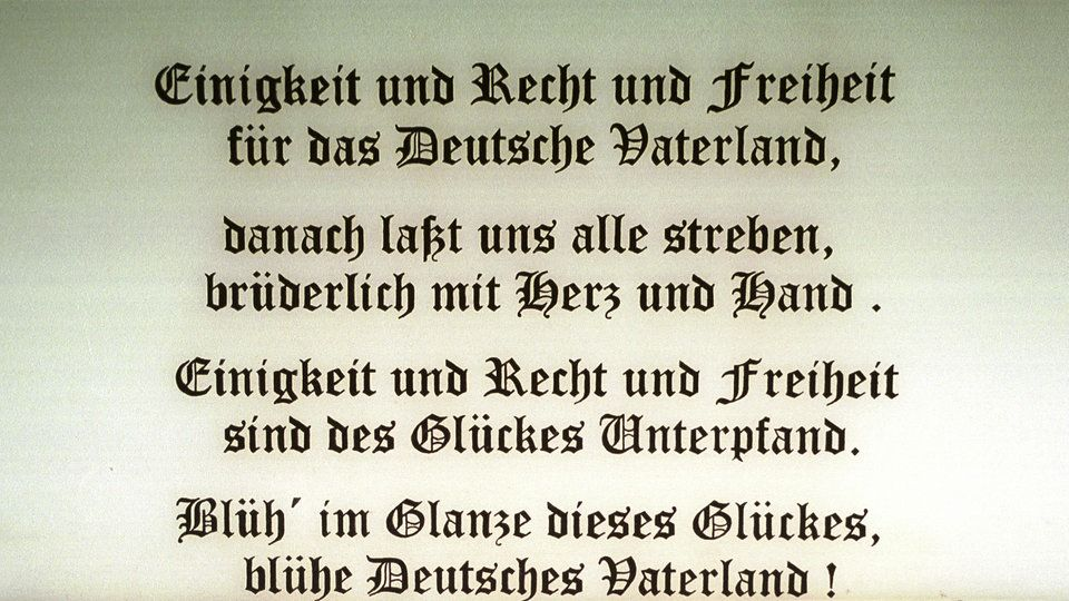 Das Lied Der Deutschen Verboten