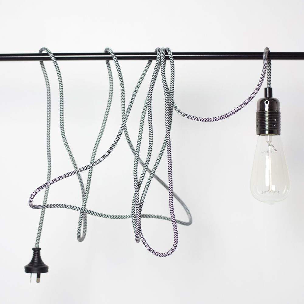A simple braided pendant lamp cord is a beautiful thing. Style our ...
