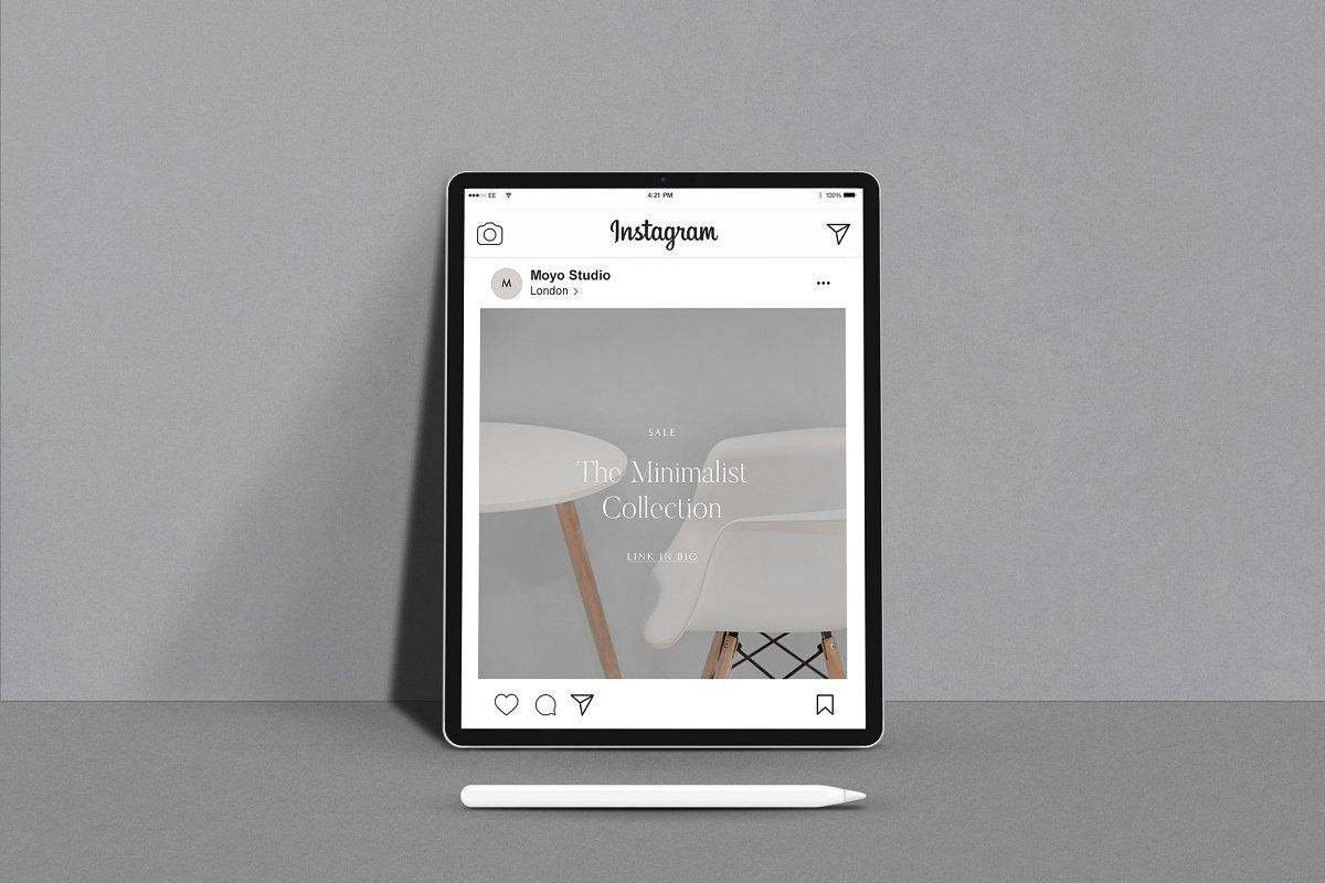 Minimal iPad Mockup with Album