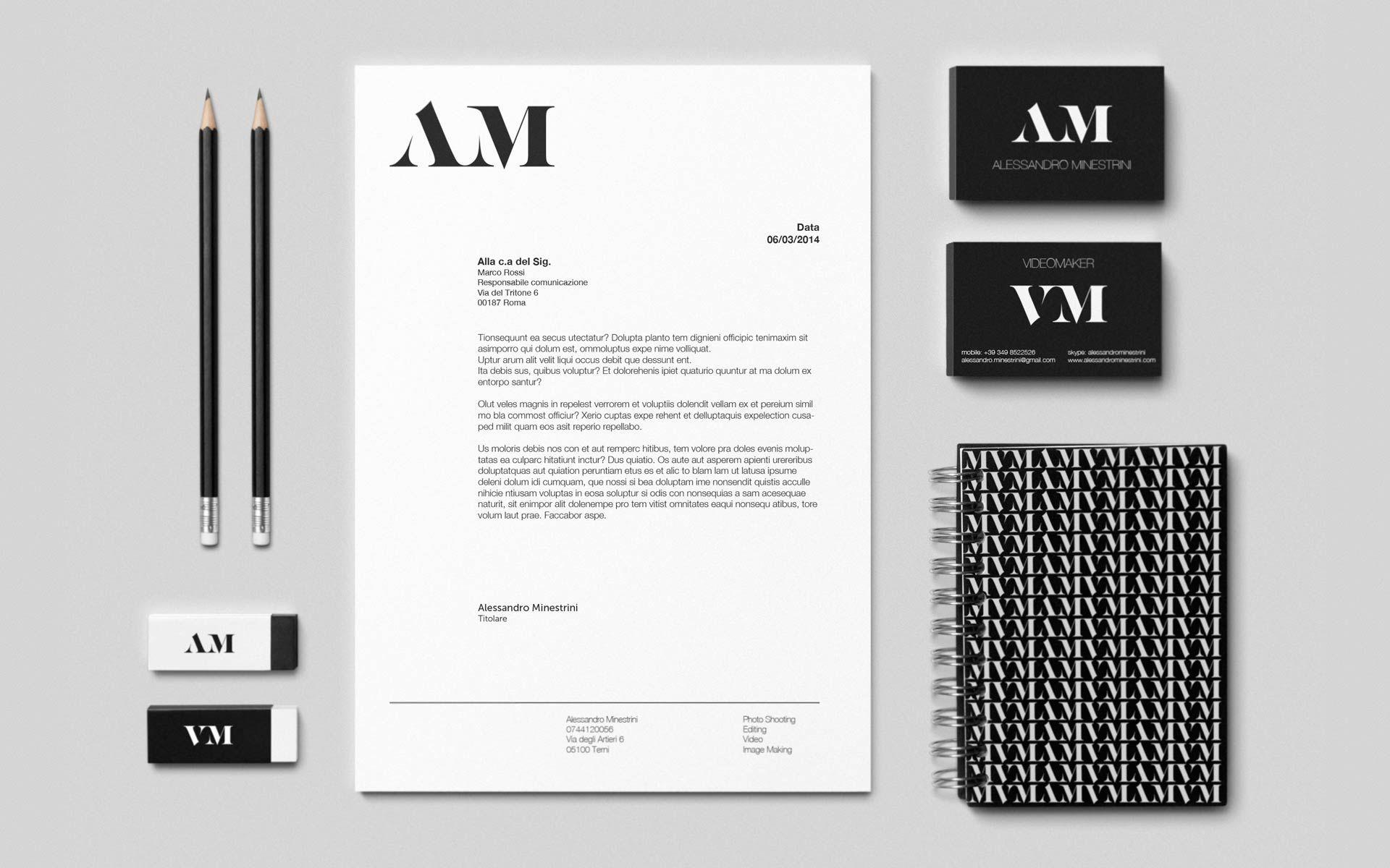 Alessandro Minestrini identity design