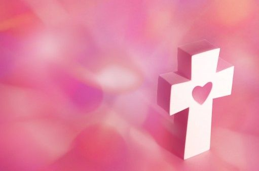 Cross with pink background - Christian Wallpapers ...