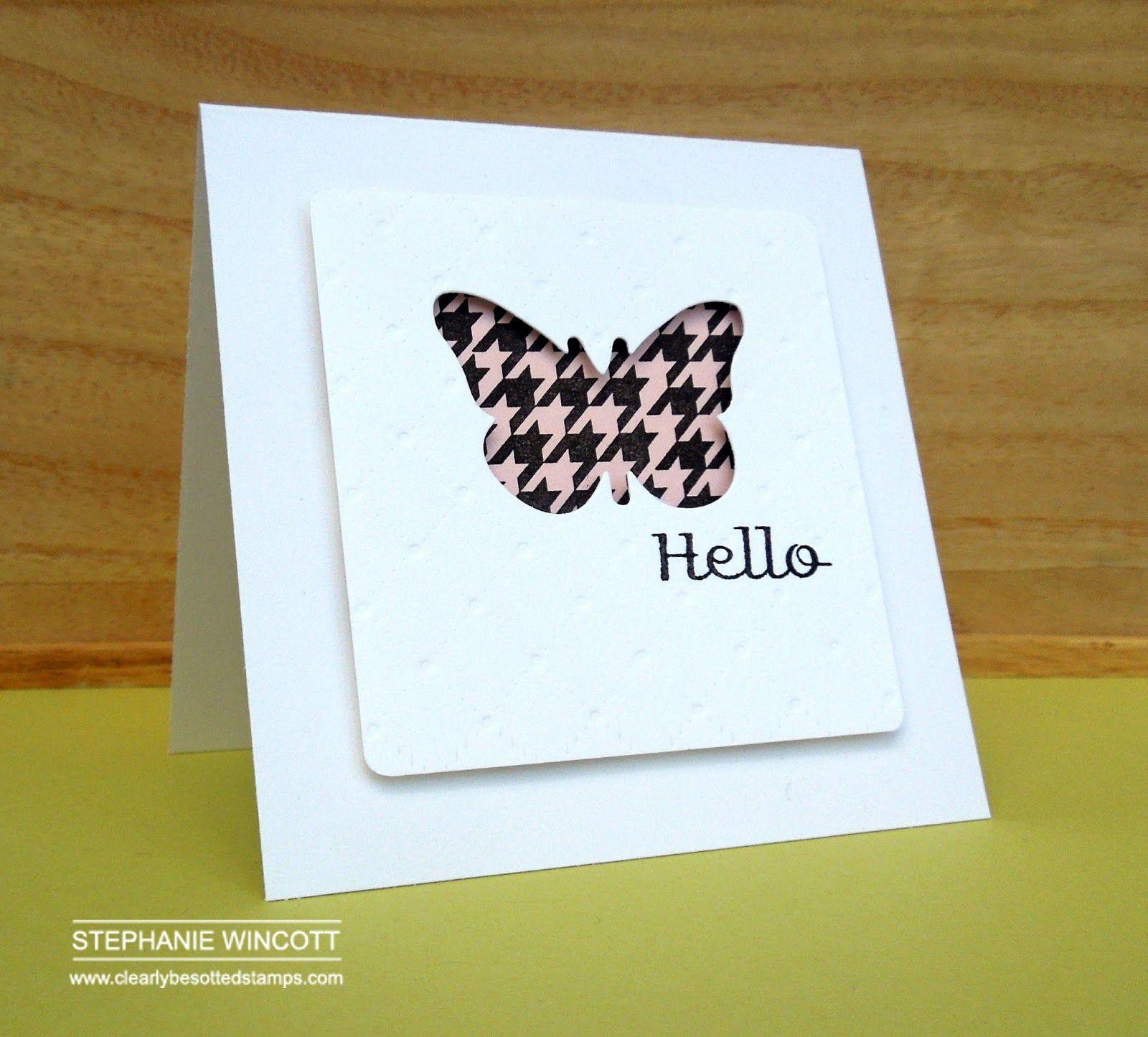 Schmetterling, wird Zeit, dass ich auch mal so eine Karte bastel