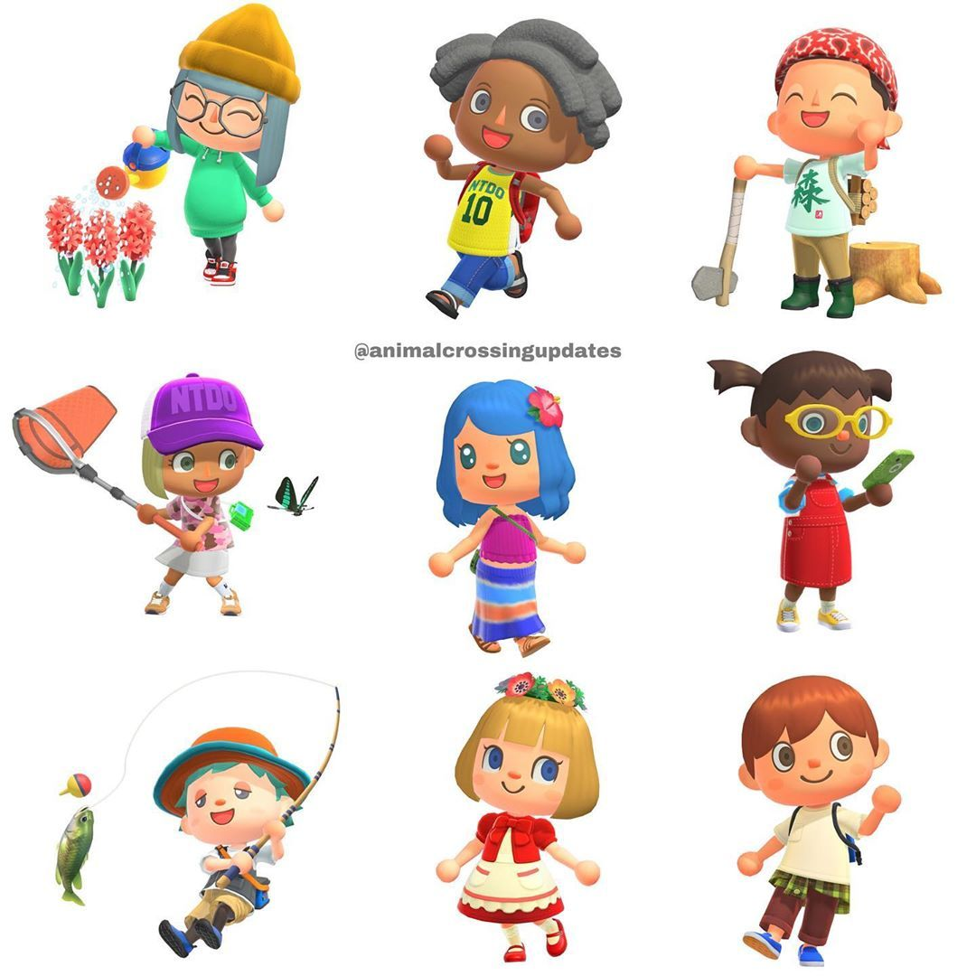 New Hairstyles Tools Clothes And Flowers Animalcrossing Acnl Animalcrossingnewleaf Anim Animal Crossing Characters Animal Crossing Animals