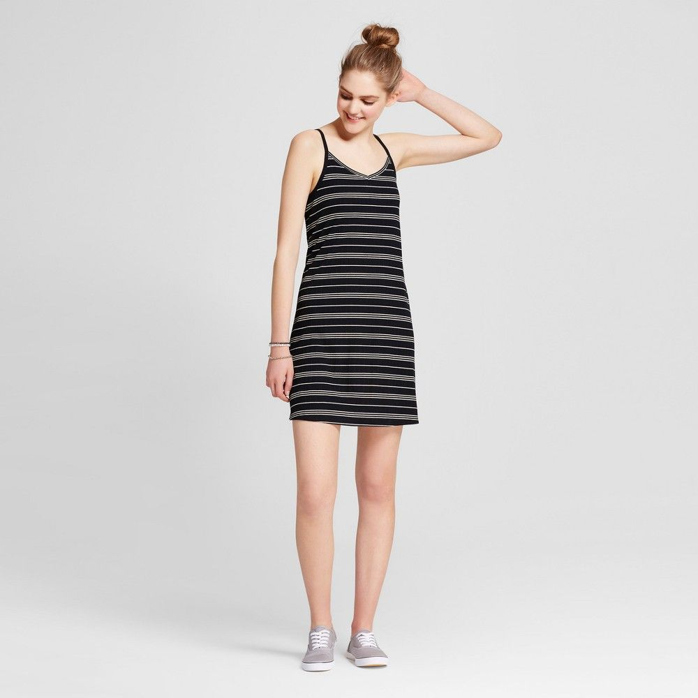 8c405323e015 Women's Knit Tank Dress - Mossimo Supply Co. Black/White Xxl ...