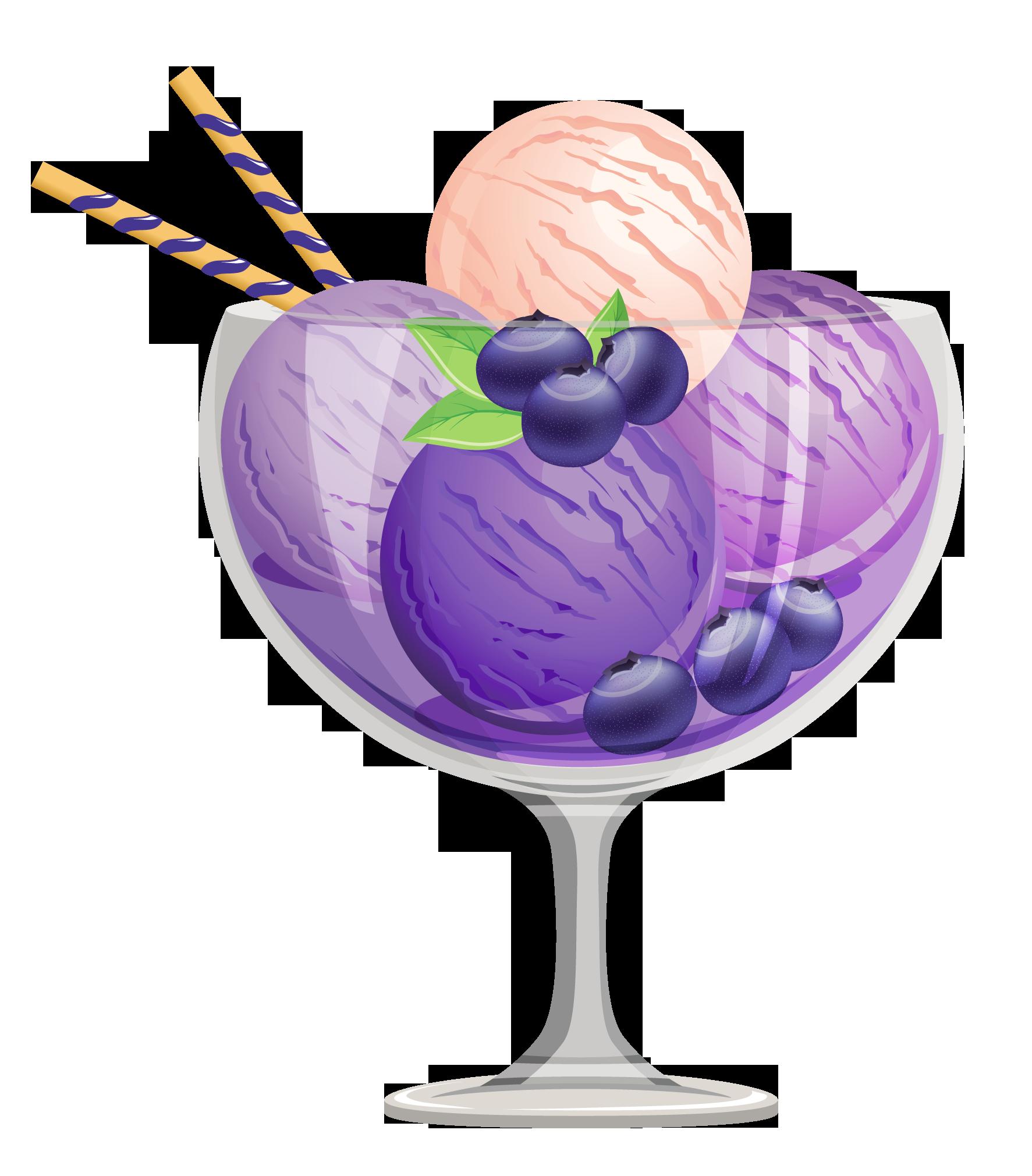 Ice Cream Sundae Ice Cream Cones Cute Clipart And On Clipartix Blueberry Ice Cream Ice Cream Sundae Dessert Illustration