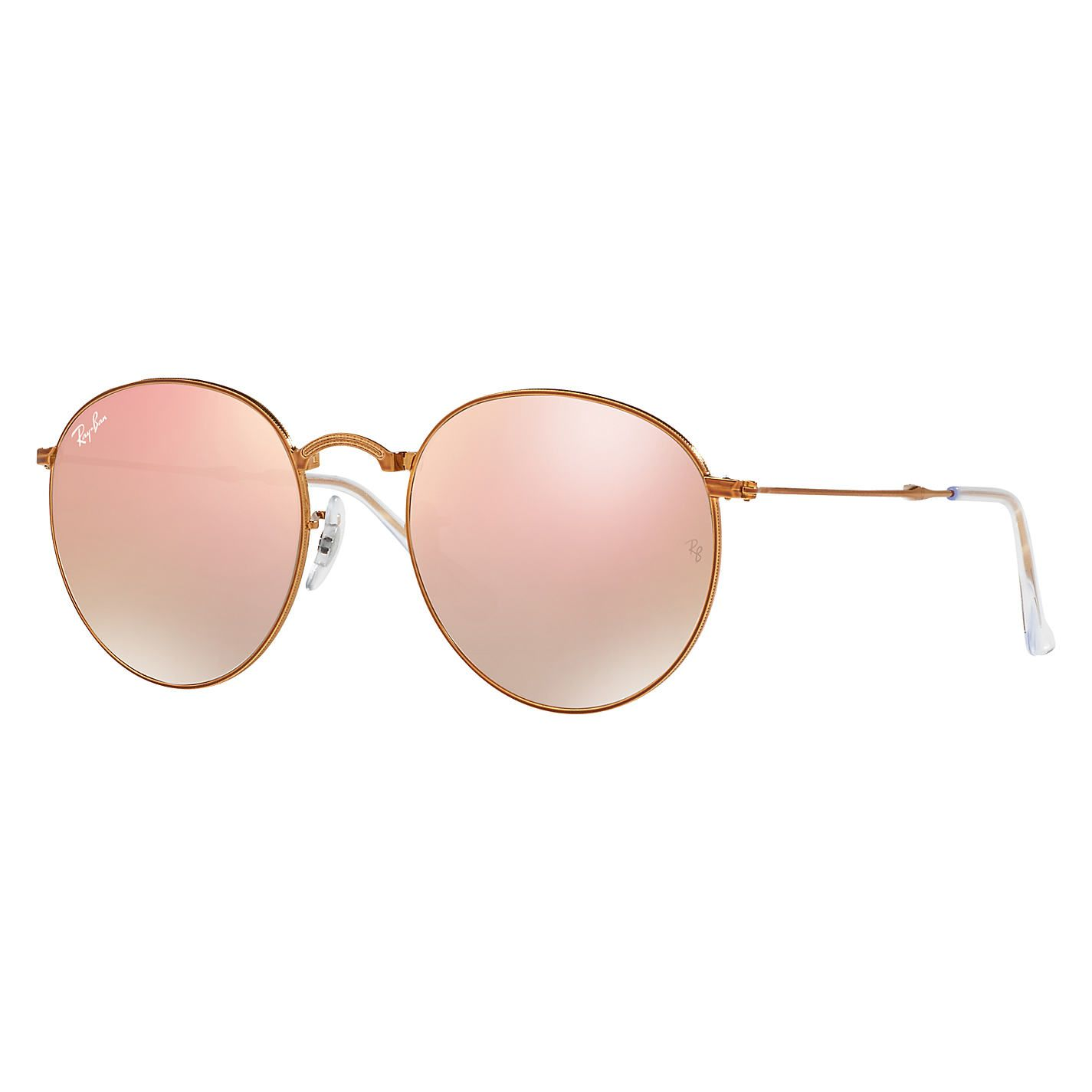 RAY BAN RAY-BAN Sonnenbrille »Round Folding Ii RB3532«, goldfarben, 001/Z2 - gold/rosa
