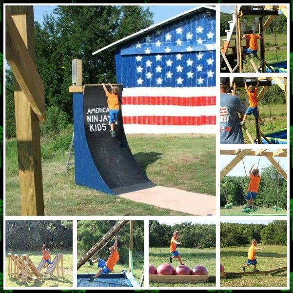 Kids American Ninja Warrior Course Outdoor Play Fun In