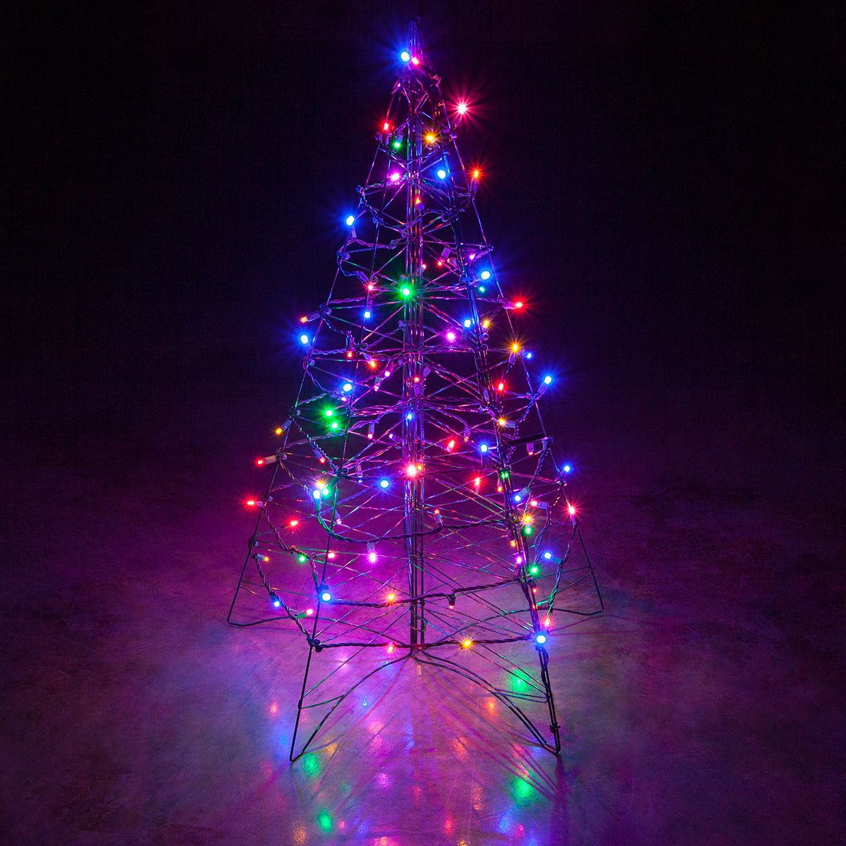 From 5499 lighted multicolor led outdoor christmas tree is lighted multicolor led outdoor christmas tree is designed for easy installation set up and storage are a cinch taking the stress out of decorating aloadofball Images