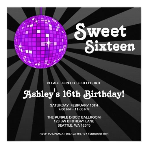 Download Now Sweet 16 Birthday Invitations Wording This Invitation For FREE At