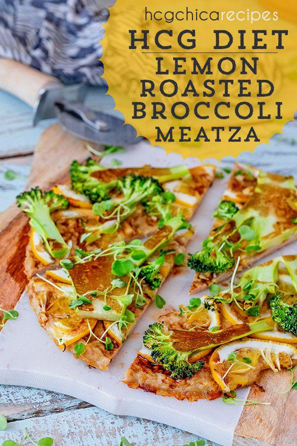 Phase 2 Hcg Recipe Lemon Roasted Broccoli Meatza Ap Recipe Ap P2 Hcg Diet Lunch
