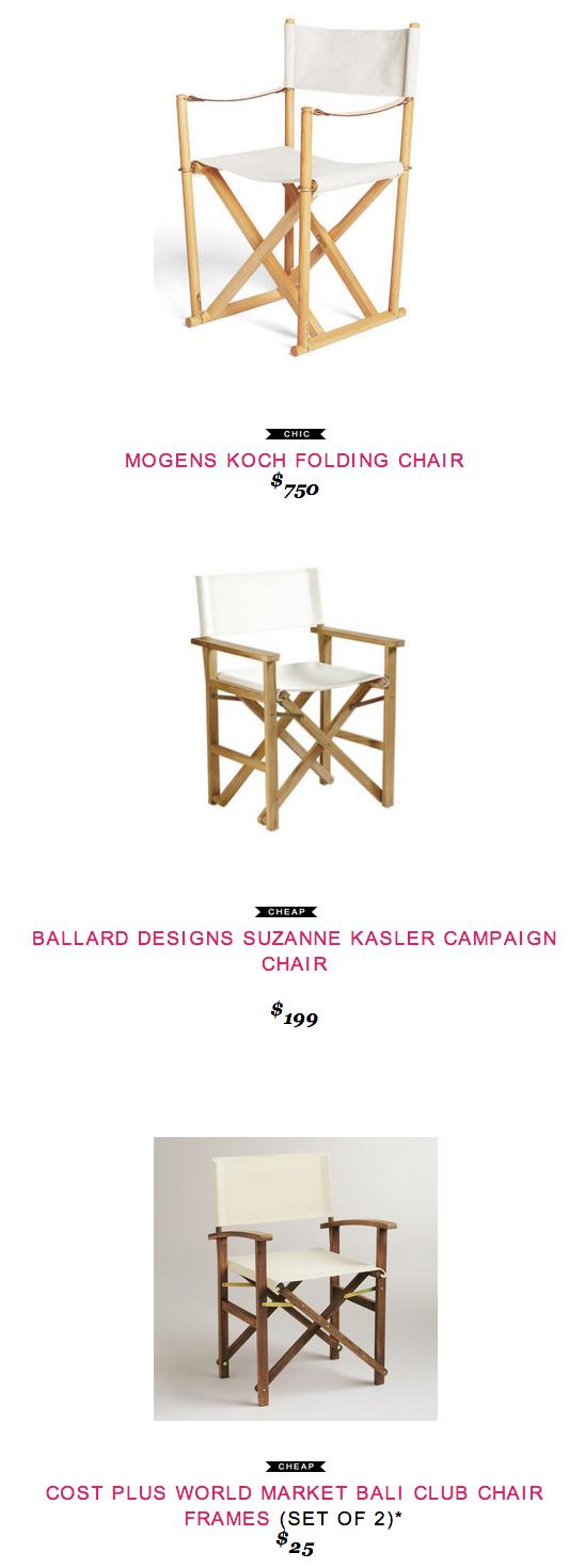 Mogens Koch Folding Chair copycatchic World market