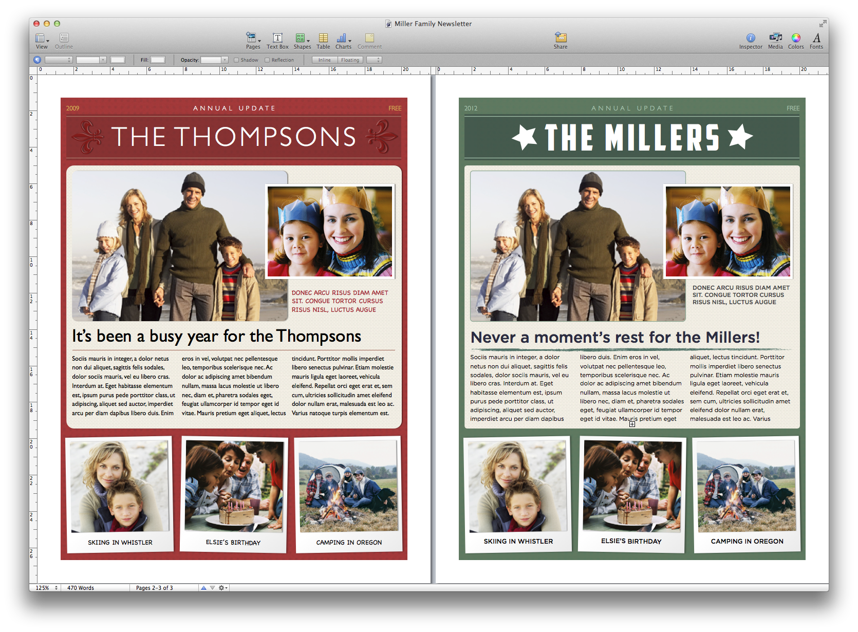Create A Holiday Newsletter With Pages Or IPhoto