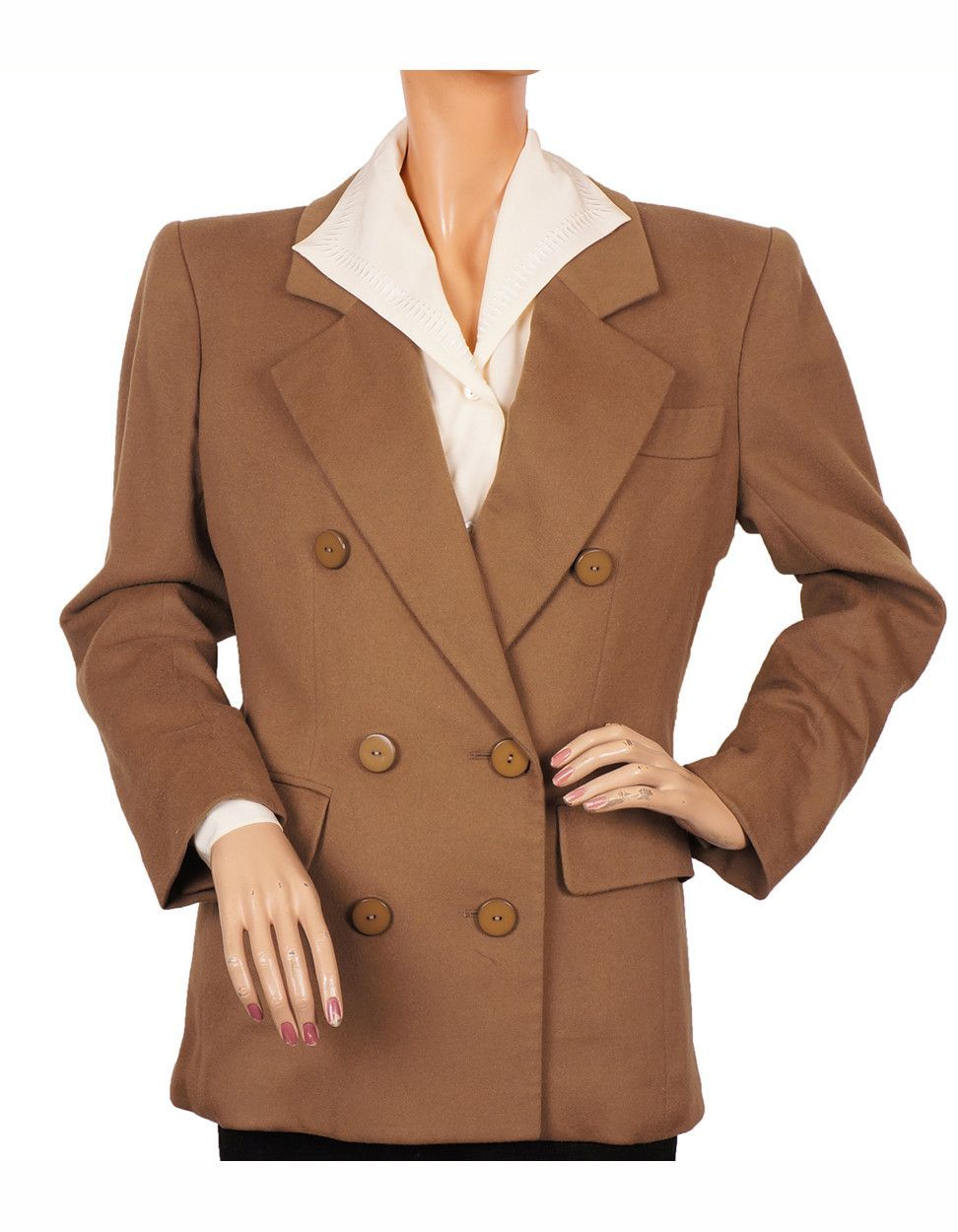 3b89ca52c15 From the early 90s here's a medium brown wool double breasted jacket by Yves  Saint Laurent Rive Gauche Made in France Paris. Made of a fine quality wool,  ...
