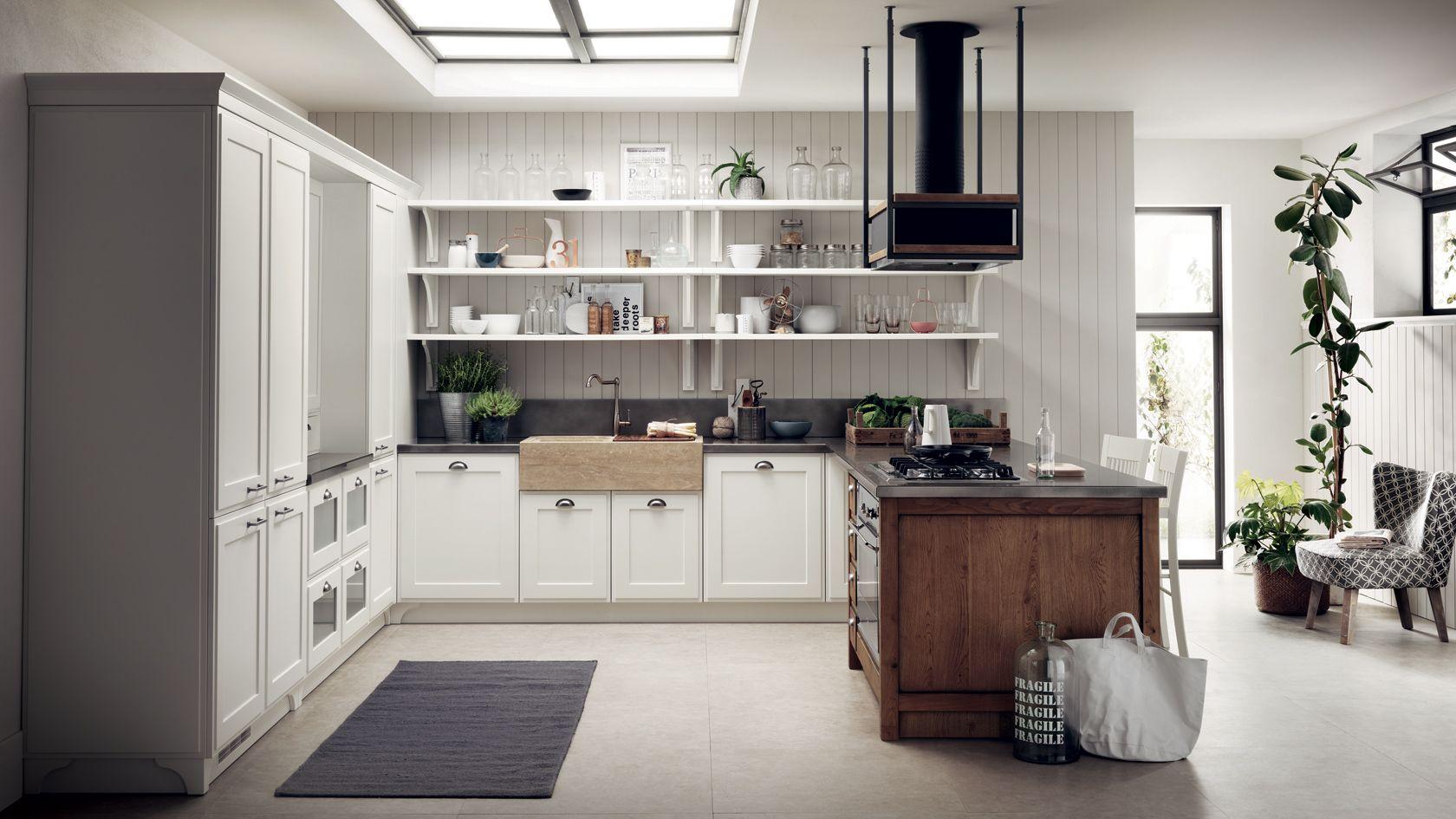 U-förmige küchendesigns favilla  cucine shabby chic  pinterest  einrichten und wohnen und