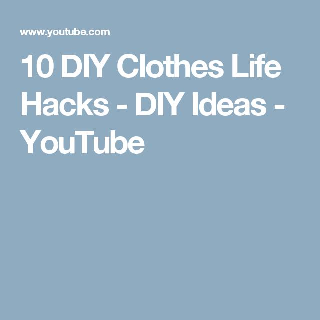 80025ecdf 10 DIY Clothes Life Hacks - DIY Ideas - YouTube