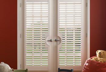 Premium Faux Wood Shutters | Google images, Custom blinds and Doors