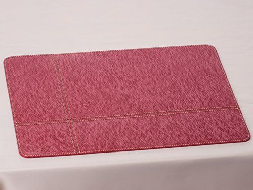 Attirant Red Placemat, Leather Placemat, Table Mat, Red Table Matsu2026