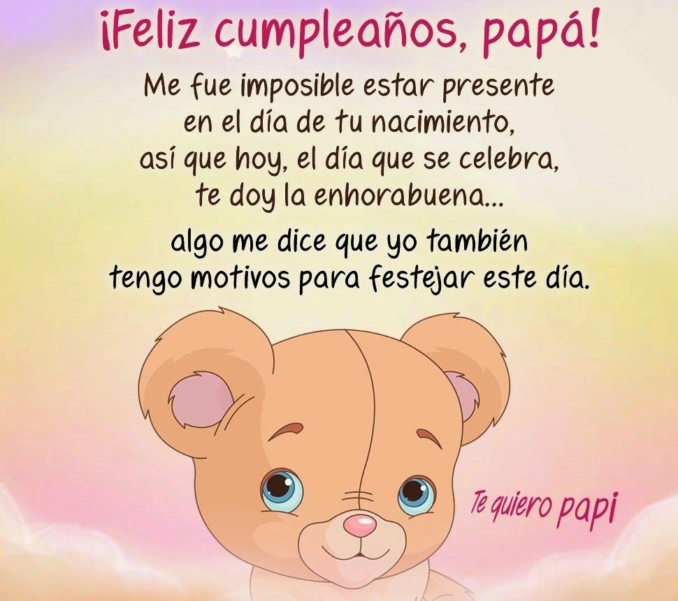 Imágenes de Cumpleaños para Papá | Pinterest | Frases para dedicar ...