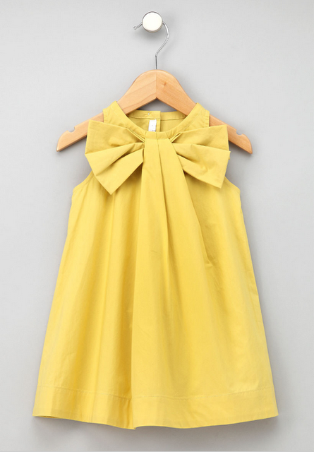 5f2bf4462 one little minute  Big Bow Easter Dress