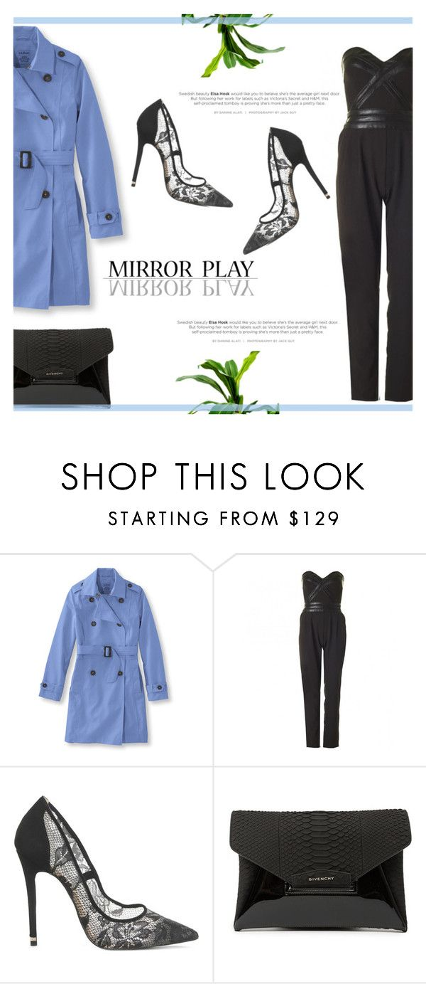 """Pretty Pastel Trench Coats"" by antemore-765 ❤ liked on Polyvore featuring L.L.Bean, Office, Givenchy, women's clothing, women's fashion, women, female, woman, misses and juniors"