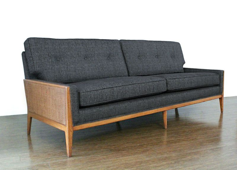 Tweed Couch Mid Century Modern Furniture Scandi Sofa Furniture