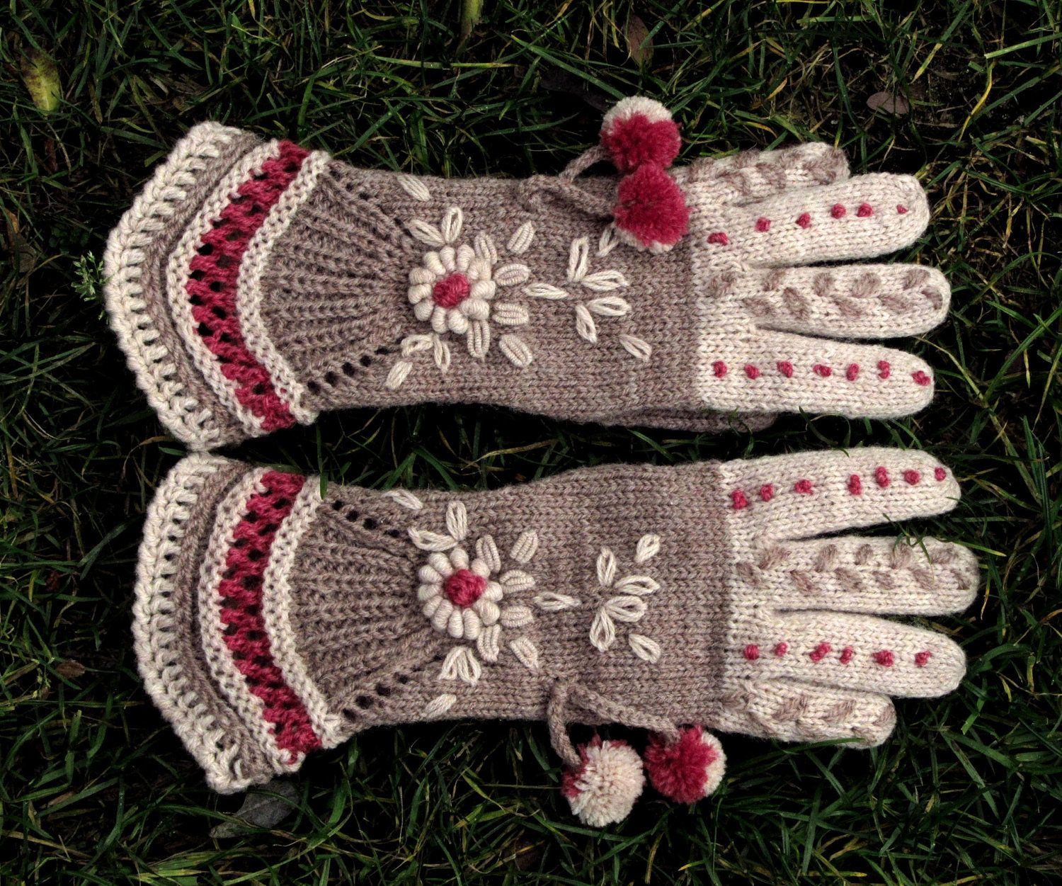 """Vintage Victorian Lace Gloves - """"Above the Clouds""""  by Dom Klary."""
