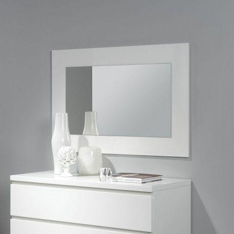 Miroir suspendu laqué blanc design et tendance