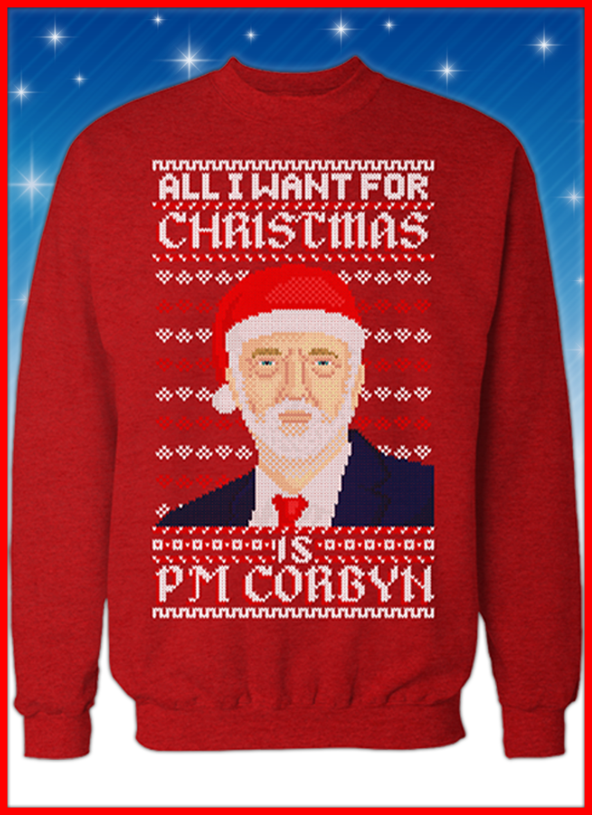 Jeremy Corbyn For The Many Not The Few Sweater Top Jumper Sweatshirt Labour