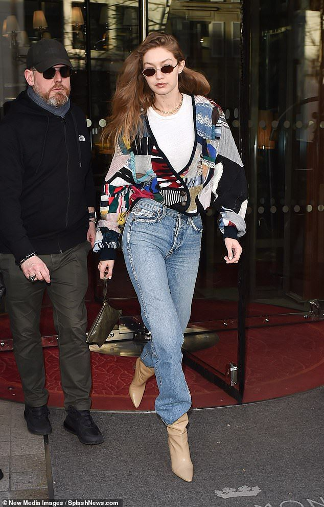 Gigi Hadid and sister Bella head out for Paris Fashion Week
