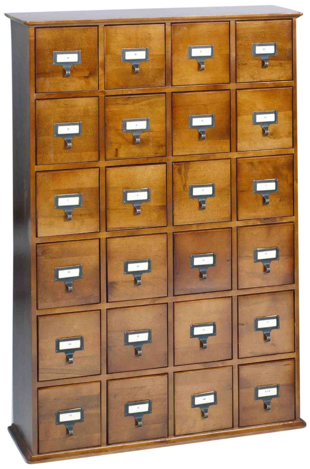 Attractive Handcrafted With Solid Wood, The Walnut Finish Leslie Dame Library Card  File Multimedia Storage Cabinet Is A Completely Functional Media Storage  Cabinet ...