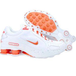 Nike Womens Shox Monster (white / wild mango) 312681-162 - $99.99