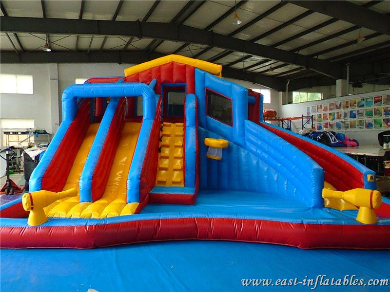 Inflatable Water Gun Slide Swimming Splash Pool Banzai