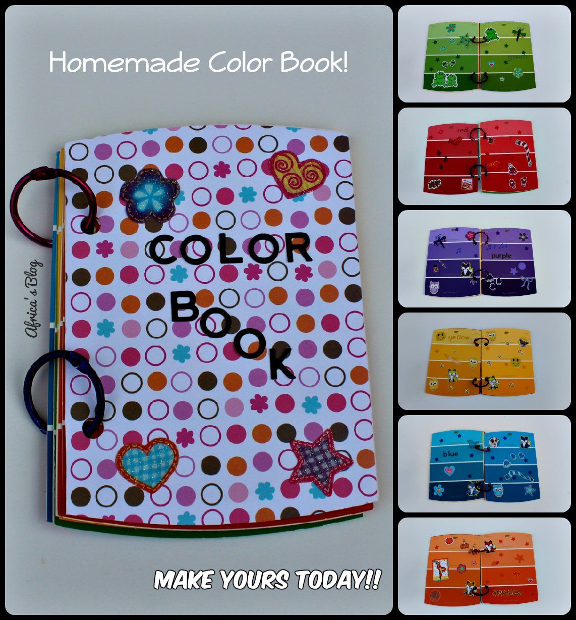 Teach Your Toddler Colors Homemade Color Book Diy Tutorial Toddler Coloring Book Diy Coloring Books Homemade Books