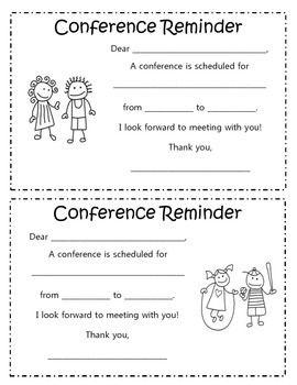 FREE Parent Conference Reminder Form